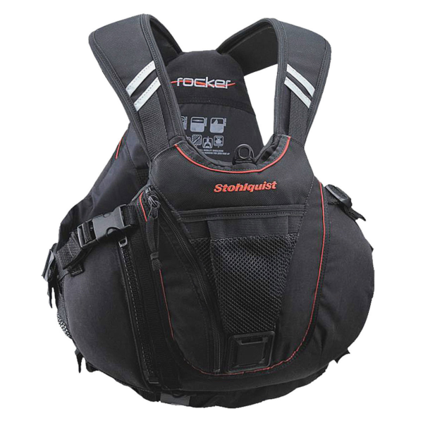 Stohlquist-Rocker-Kayak-PFD-Lifejacket.Black.Front