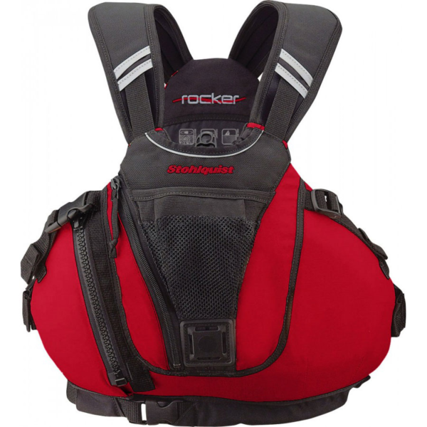 Stohlquist-Rocker-Kayak-PFD-Lifejacket.Red.Front