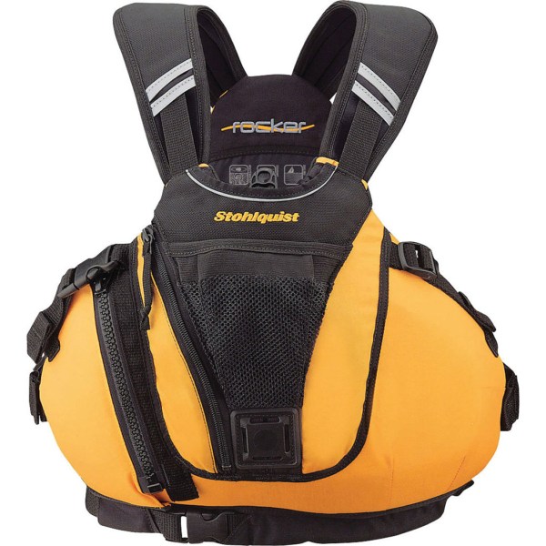 Stohlquist-Rocker-Kayak-PFD-Lifejacket.Yellow.Front